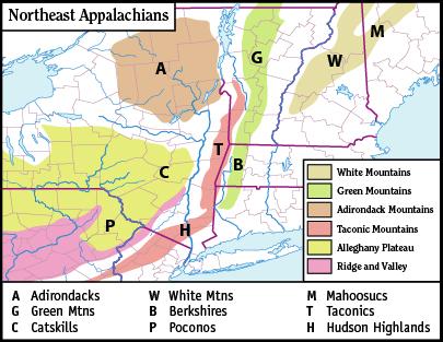 NortheastAppalachiansMap